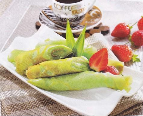 Resep Pandan Crepes Untuk 15 Porsi