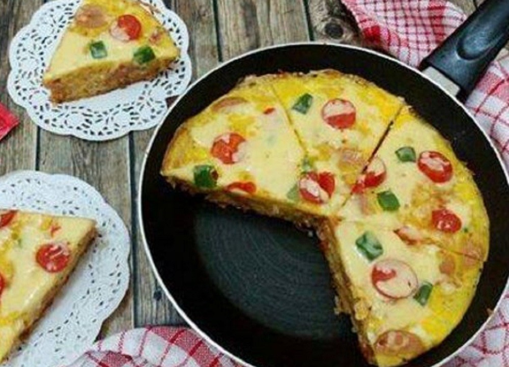 Resep Pizza Nasi untuk Bekal Si Kecil